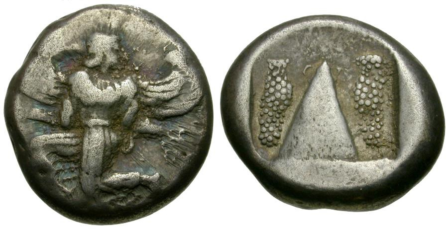 Ancient Coins - Caria. Kaunos AR Stater / Winged Figure
