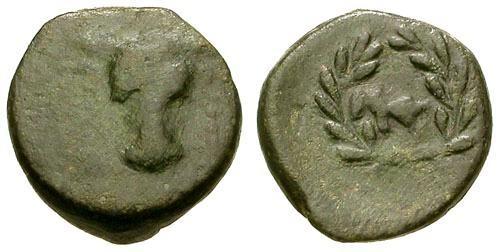 Ancient Coins - gF/gF+ Phokis Federal Coinage Phokian League Æ15 / Bull