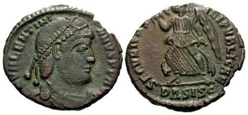 Ancient Coins - VF/VF Valentinian I AE3 / Victory