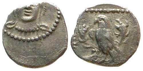 Ancient Coins - VF/VF Cilicia Tarsos AR Obol / Eagle