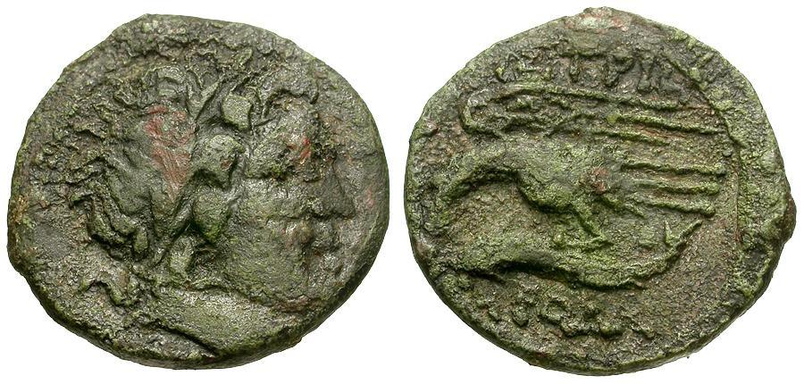 Ancient Coins - Moesia Inferior.  Istros Æ20 / Artemis