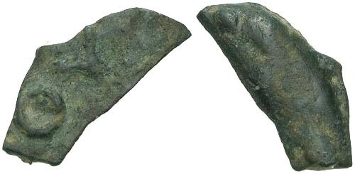 Ancient Coins - VF/VF Cast Bronze Dolphin Coinage Rare OY Legend