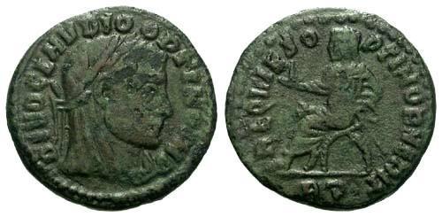 Ancient Coins - F/F Divo Claudius II Gothicus / Claudius in Curule