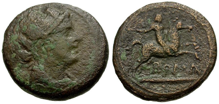 Ancient Coins - 217-215 - Roman Republic.  Anonymous Æ Semuncia / Horseman