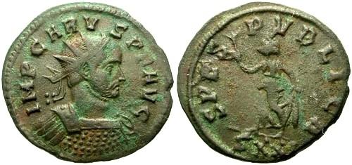 Ancient Coins - VF/aVF Carus AE Antoninianus / Spes