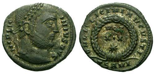 Ancient Coins - EF/EF Licinius I / Silvered R4 Votive
