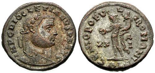 Ancient Coins - EF/EF Diocletian Large Follis / Genio
