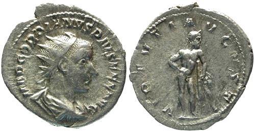 Ancient Coins - VF/VF Gordian III AR Antoninianus / Hercules