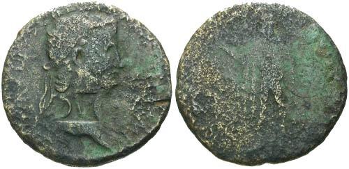 Ancient Coins - VG/VG Claudius Barbarous Sestertius DV Counterstamp