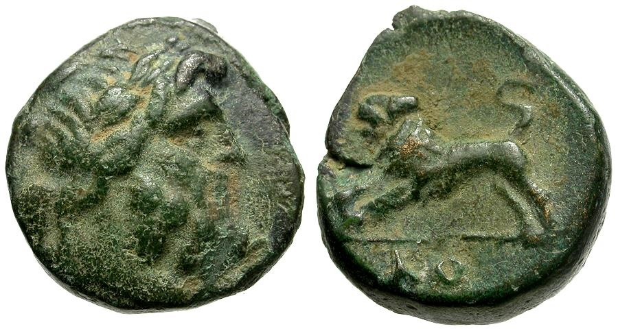 Ancient Coins - Pisidia. Komama Æ13 / Lion