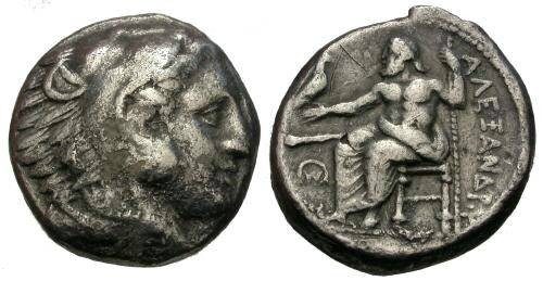 Ancient Coins - Early Date Alexander the Great Silver Tetradrachm