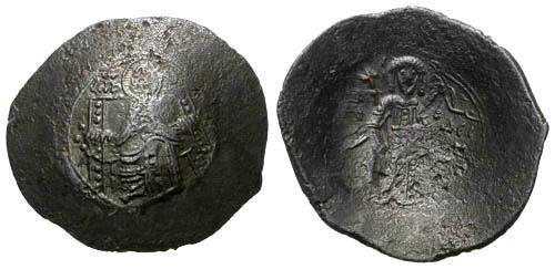 Ancient Coins - VF/VF Isaac II Billon Aspron Trachy