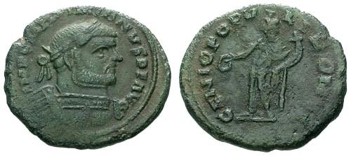 Ancient Coins - aVF/aVF Maximianus AE Follis / Genius