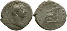 Ancient Coins - Trajan AR Denarius / Trajan's Father