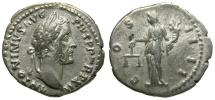 Antoninus Pius AR Denarius / Aequitas
