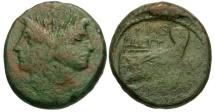 Ancient Coins - 45 BC - Roman Republic.  Sextus Pompeius Magnus Pius Æ AS