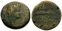 Ancient Coins - Tiberius. Cilicia. Olba Æ23 / Thunderbolt