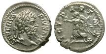 Septimius Severus AR Denarius / Victory