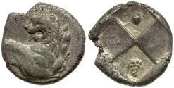 Ancient Coins - Thrace. Chersonesos AR Hemidrachm / Grapes