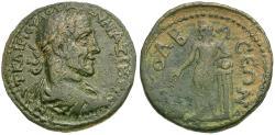 Ancient Coins - Maximinus I Thrax (AD 235-238). Pisidia. Colbasa Æ25 / Apollo