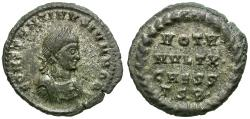 Ancient Coins - Constantine II, as Caesar (AD 316-337) Silvered Æ3 / Votive