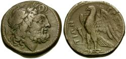 Ancient Coins - Bruttium. Brettian League Æ22