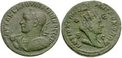 Ancient Coins - Philip II (AD 247-249). Seleucis and Pieria. Antiochia ad Orontem Æ29 / Bust of Tyche