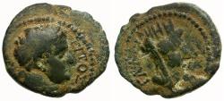 Ancient Coins - Titus as Caesar. Decapolis. Gadara Æ16