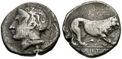 Ancient Coins - Lucania. Velia AR Stater / Lion