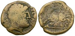 Ancient Coins - Spain. Iberia. Toletum Æ27 / Horseman
