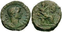 Ancient Coins - Aurelian (AD 270-275). Egypt. Alexandria Æ Tetradrachm / Nike Seated on Cuirass
