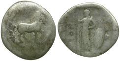 Ancient Coins - Thessaly. Pharkadon AR Obol / Horse