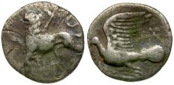 Ancient Coins - Peleponnesos. Sikyonia. Sikyon AR Hemidrachm / Chimera