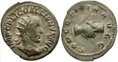 Ancient Coins - Gallienus AR Antoninianus / Clasped hands