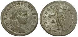 Ancient Coins - Maximianus (AD 286-305) Silvered Follis / Genius