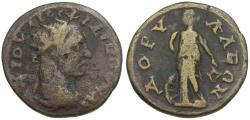 Ancient Coins - Philip I (AD 244-249). Phrygia. Dorylaeum Æ23 / Nemesis