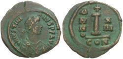 Ancient Coins - *Sear 167* Byzantine Empire. Justinian I (AD 527-565) Æ 24mm Decanummium