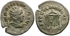 Ancient Coins - Philip I AR Antoninianus / Roma in Temple