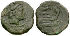 Ancient Coins - 211-208 BC - Roman Republic Æ Sextans / Victory