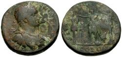 Ancient Coins - Elagabalus, Phoenicia, Tyre Æ29 / Astarte