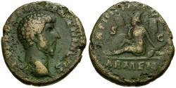 Ancient Coins - Lucius Verus Æ AS / Armenia as Captive