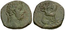 Ancient Coins - Commodus (AD 177-192) Æ Sestertius / Vict Brit
