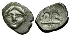 Ancient Coins - Thrace. Apollonia Pontica AR Diobol / Apollo and Anchor
