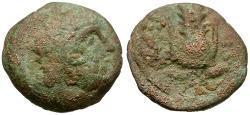 Ancient Coins - Ptolemy IX Soter II Lathyros (116-106 BC) Æ13 / Headdress of Isis