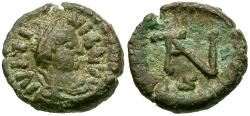 Ancient Coins - *Sear 340* Justinian I (AD 527-565) Æ Nummus / Monogram 5