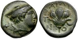 Ancient Coins - Macedon. Tragilos Æ15 / Rose