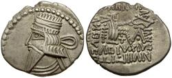 Ancient Coins - Kings of Parthia. Vologases III AR Drachm