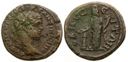 Ancient Coins - gF+/gF+ Caracalla Thrace Odessos Æ26 / Tyche
