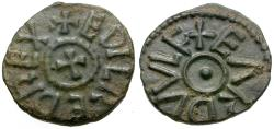 World Coins - Anglo-Saxon. Kings of Northumbria. Æthelred II, second reign (843-850). Earduulf, moneyer Æ Styca