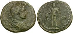Ancient Coins - Elagabalus. Moesia Inferior. Nikopolis ad Istrum Æ26 / Hermes